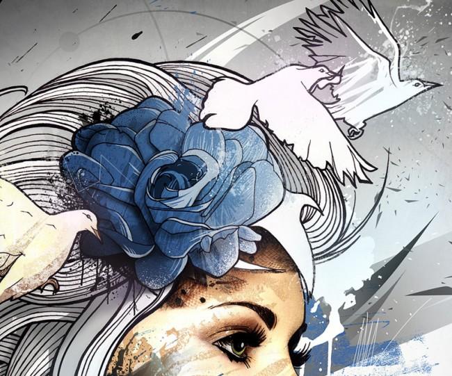 BlueBird (detail)